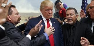 President Donald Trump doesn't want Muslims in his Christian country.