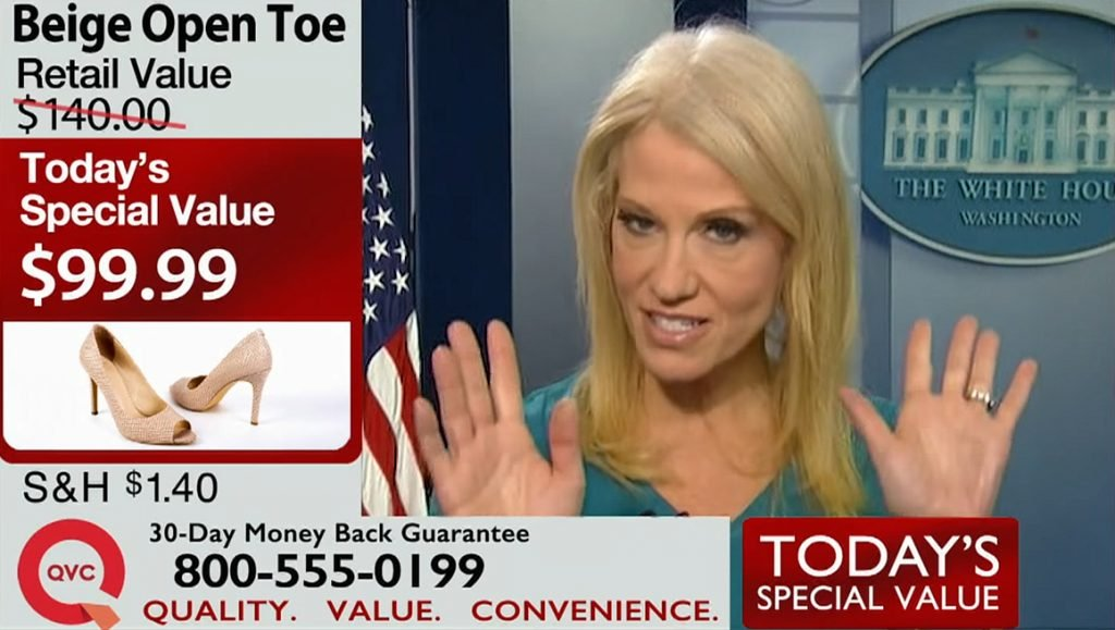 White house spokesperson and council Kellyanne Conway announced that she's partnering with the TV shopping network QVC.