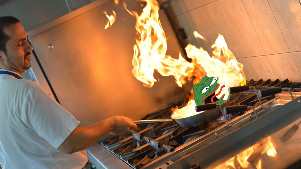 Alt-Right mascot Pepe the Frog was accidentally sauteed and eaten at a local restaurant.