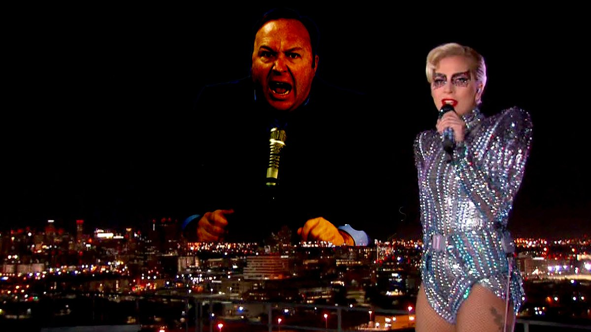 Various Alex Jones fans responded to Lady Gaga's performance during the Super Bowl halftime show.