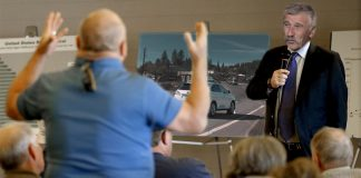 """The Grass Valley Elk's Lodge held a contentious """"support group"""" to discuss the menacing East Main Street Roundabout."""