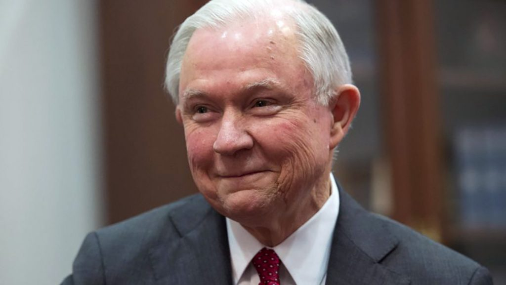 Attorney General Jeff Sessions has taken to smoking weed to reduce his stress levels.