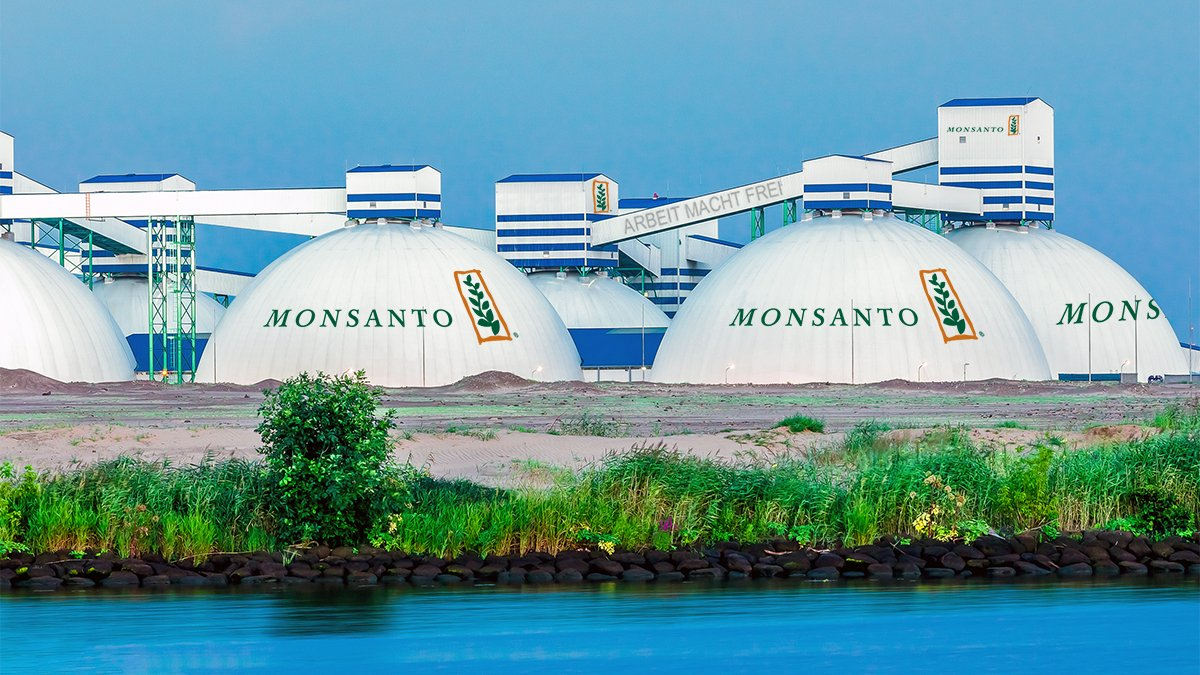 One of several planned sanctuary cities to be built by agribusiness giant Monsanto to house migrant workers.