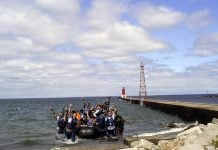 The first wave of approximately 2,000 of the expected 4,500 Syrian Refugees finally reached the Menominee Marina in downtown Menominee, MI.