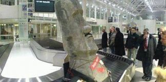 The Easter Island moai that Cedar Ridge's Pete Johnson attempted to smuggle into the United States. Source, US Customs, Sacramento Bureau.