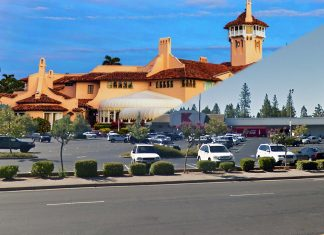 What a proposed Mar-a-Lago West would look like in Grass Valley's Kmart shopping center.