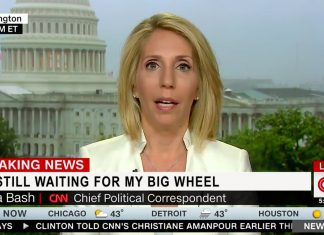 Out of the blue, Chief Political Correspondent Dana Bash recounted her disappointment in not receiving a Big Wheel for Christmas.