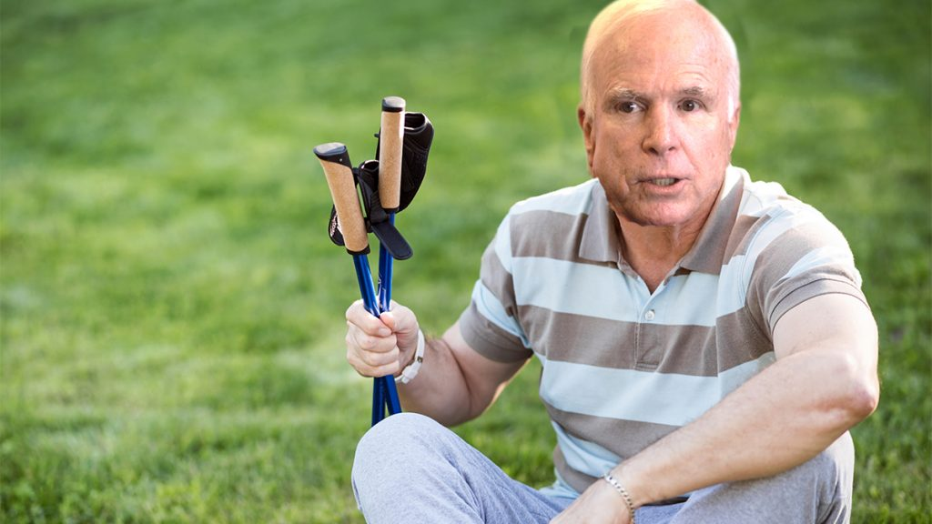 John McCain was found disoriented on his lawn at his Arizona home.