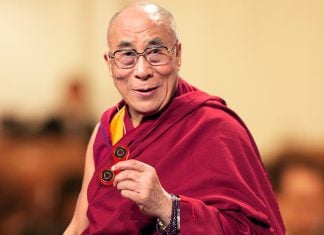 His holiness the 14th Dalai Lama discussed the delights of Fidget Spinners at a recent Ohio spiritual conference.