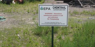 One of 14 Chemtrail clean-up sites across the nation that will be abandoned if Trump's budget cuts go through.