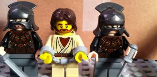 A still from the upcoming Warner Brothers Lego version of the Passion of the Christ.
