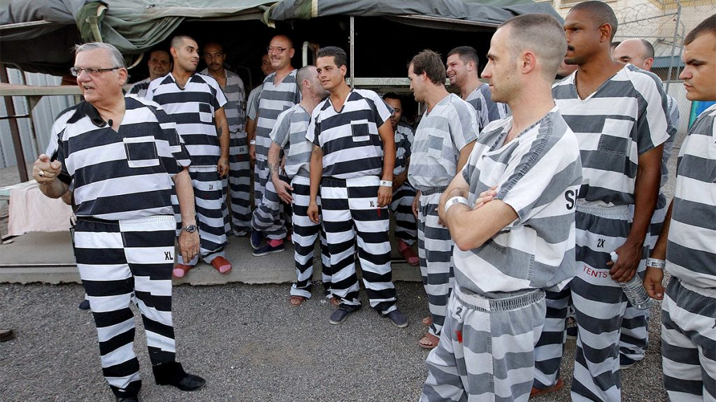 Presidentially pardoned former Sheriff Joe Arpaio of Maricopa County, AZ says no one should have to live like this, except illegal immigrants.