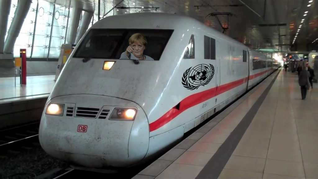Angela Merkel is rumored to be Director of the new Railway Project.