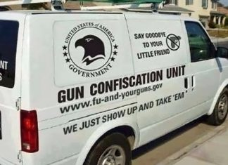 A government gun confiscation van was spotted in a Fort Worth neighborhood.