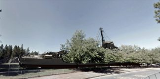 A supposed picture of the World War II experimental destroyer the USS Eldridge which apparently appeared on the field adjacent to Lyman Gilmore Middle School in Grass Valley. The picture has not been verified.