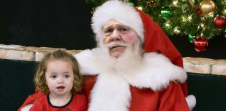 Alabama Senatorial Candidate Roy Moore seen here portraying Santa in an area Mall.