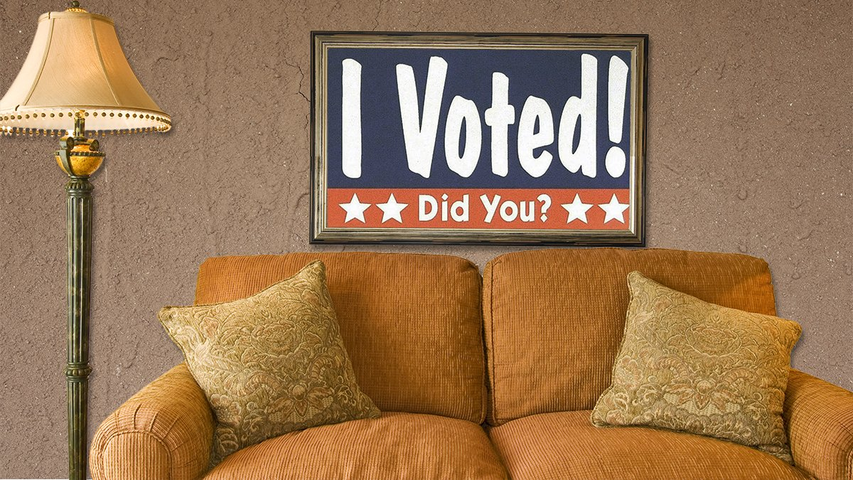 California government officials haven't decided what to do with recently registered to vote furniture.