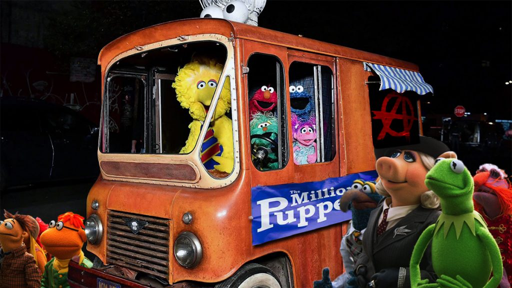 The Muppets seen here outside of Washington D.C. on their way to find Sesame Street.