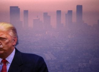 Before boarding Air Force One today, President Trump called California's strict smog-check rules unconstitutional.