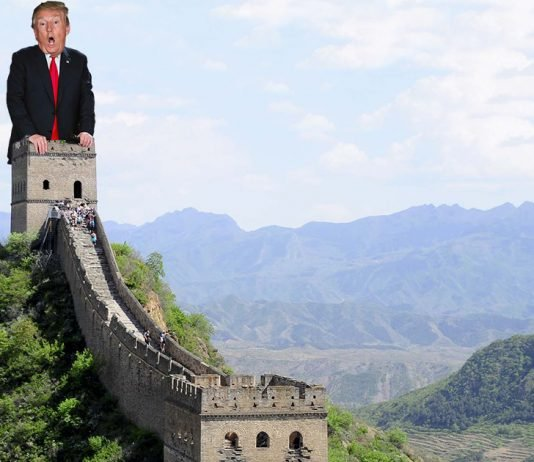 China taunted President Trump, claiming that his wall would not match their more manly one.