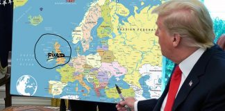 With one Sharpie stroke, President Trump claims to have fixed Brexit.