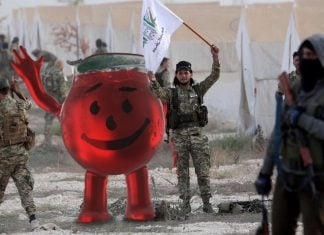 The famous mascot for Kool-Aid, the Kool-Aid Man, denies any collusion with ISIS forces.